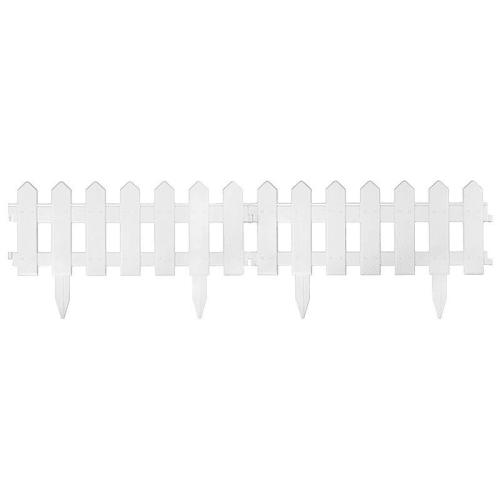 Ограждение Палисадник, 1,9 м х 20 см, белый