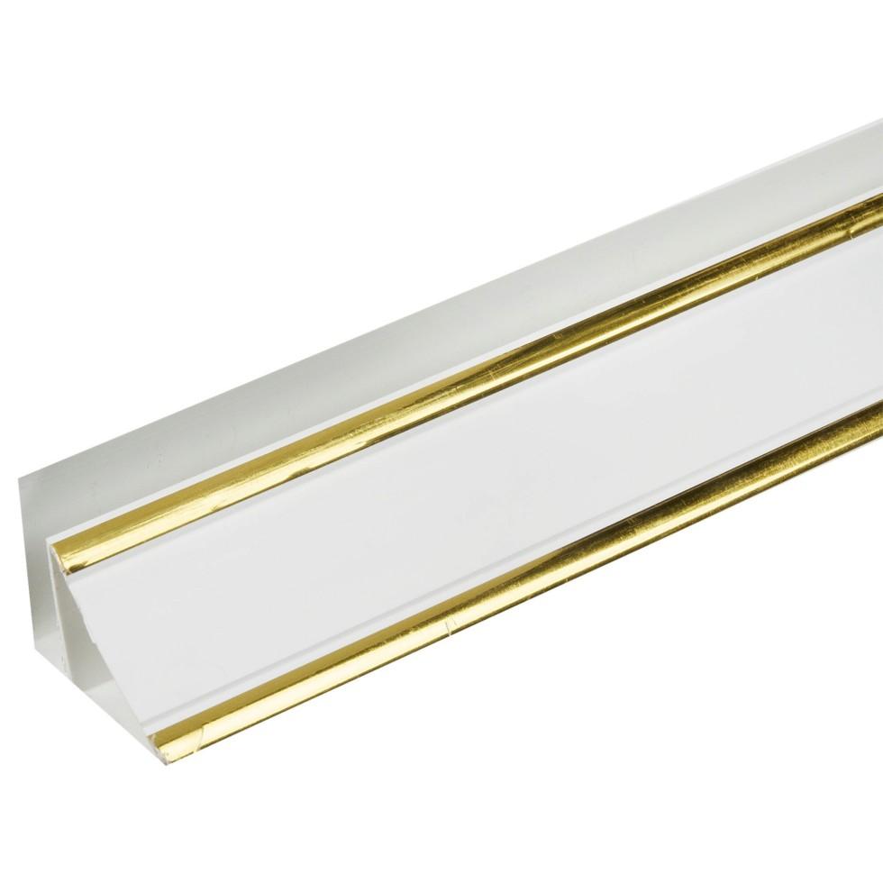 Плинтус ПВХ потолочный 3000 мм, цвет софитто золото