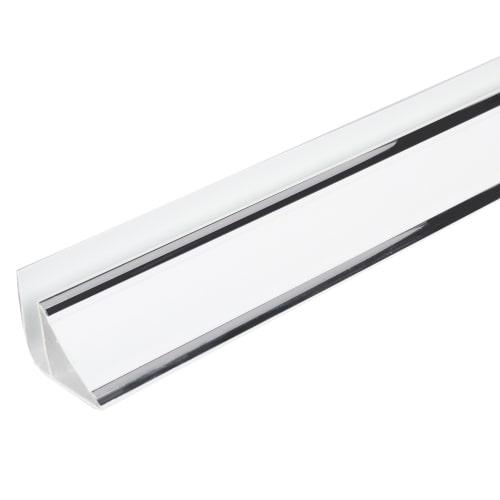 Плинтус ПВХ потолочный 3000 мм, цвет софитто серебро