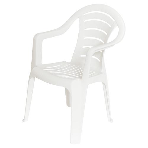 Кресло садовое белое 567x825x578 мм, пластик