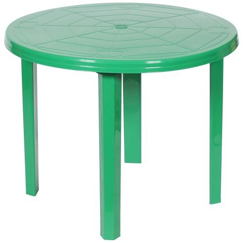 Стол садовый круглый 90x71x90 см, пластик, цвет зелёный