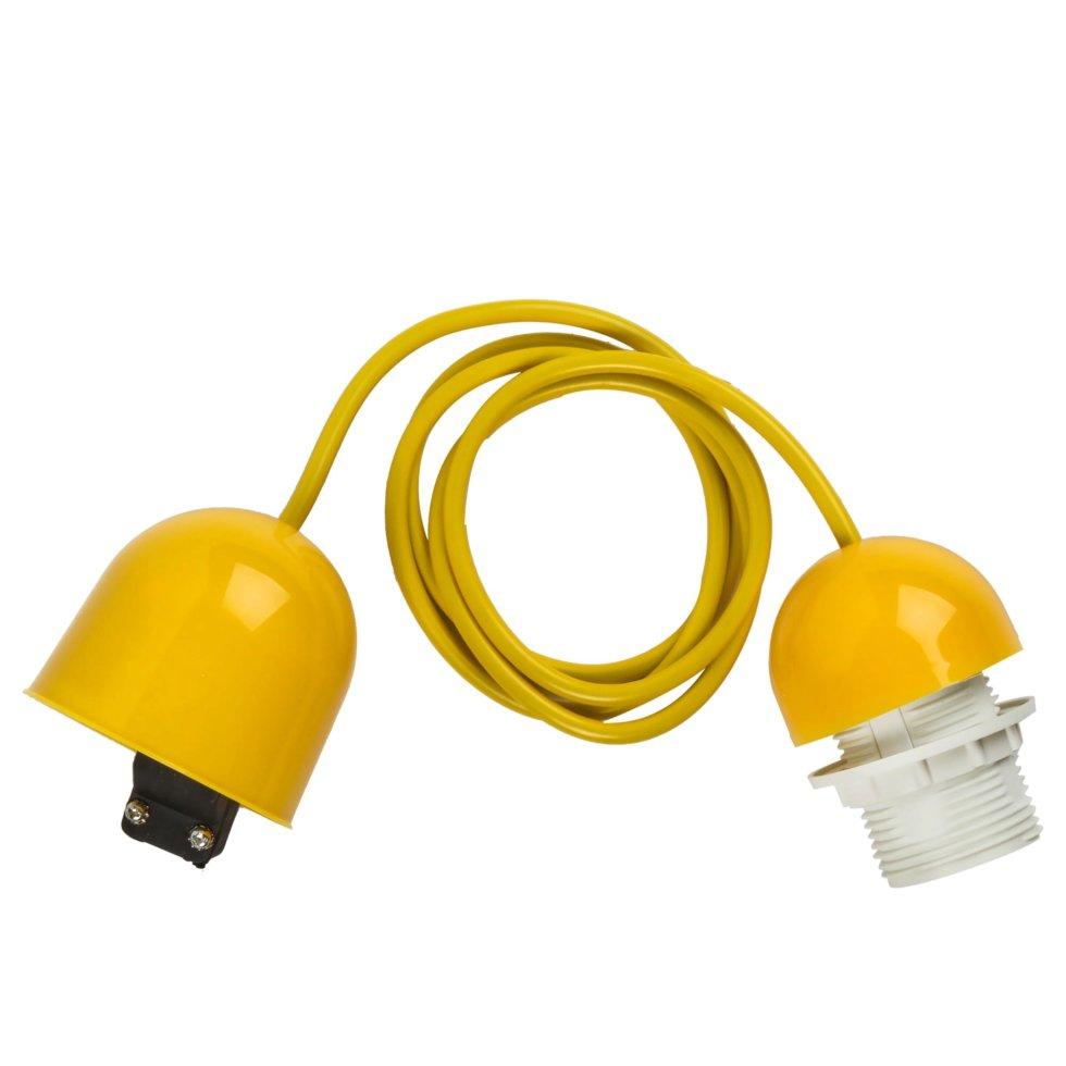 Шнур Honduras 1xE27x60Вт, пластик, цвет жёлтый