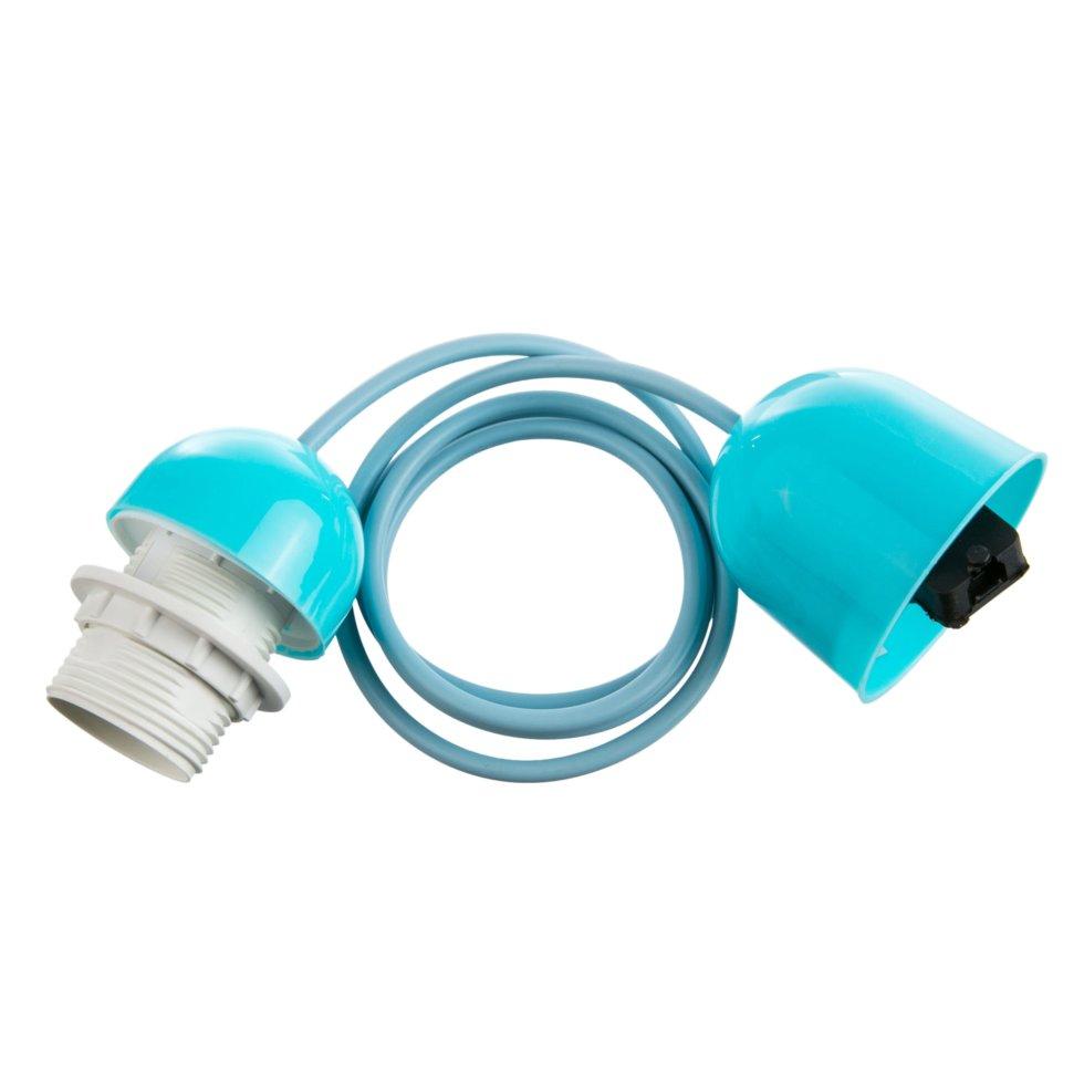 Шнур Honduras 1xE27x60Вт, пластик, цвет синий