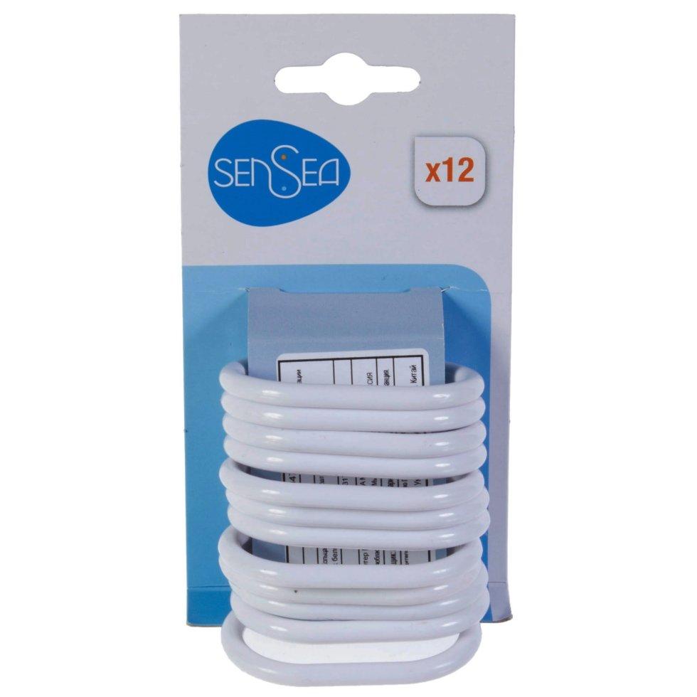 Кольца для шторок Sensea пластиковые, цвет белый, 12 шт