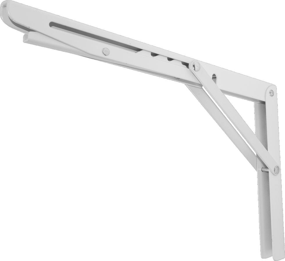 Кронштейн складной 30х20 см цвет белый
