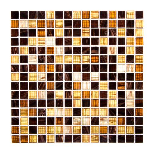 Мозаика, 32.7х32.7 см, стекломасса, цвет коричневый