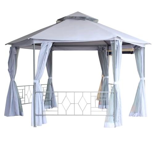 Павильон садовый «Антрацит Нью» 2x2 м, антимоскитная сетка, сталь