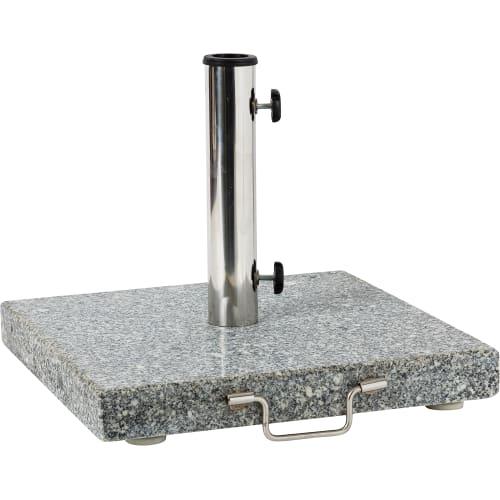 Подставка под зонт, гранит/нержавеющая сталь, 30 кг, серый