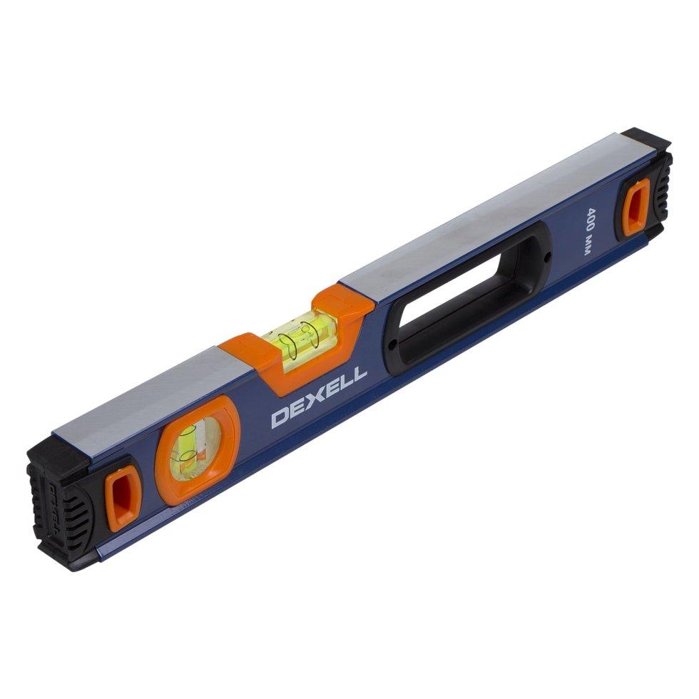 Уровень Dexell 400 мм с двумя глазками и магнитом
