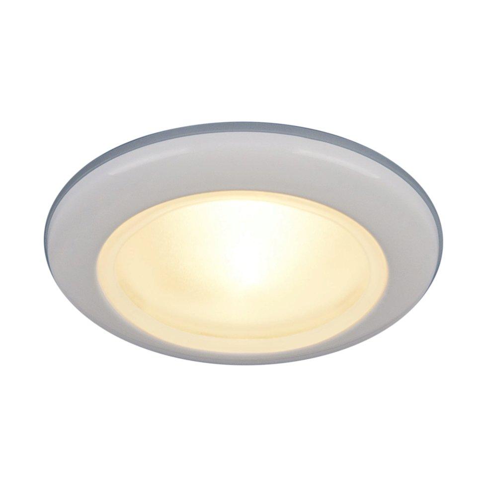 Светильник встраиваемый Электростандарт Spruzzo, цоколь G5.3, 50 Вт, цвет белый, IP44