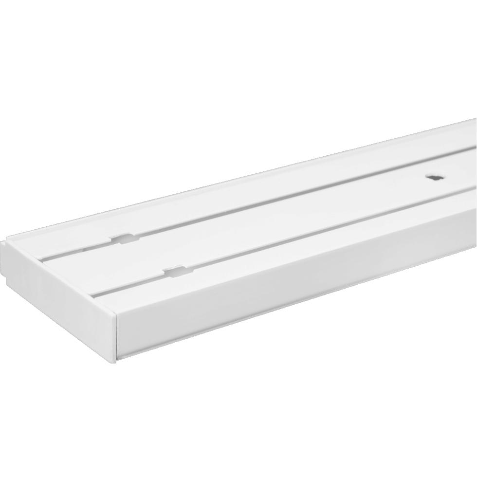 Карниз пластиковый двухрядный Inspire в наборе 300 см пластик цвет белый