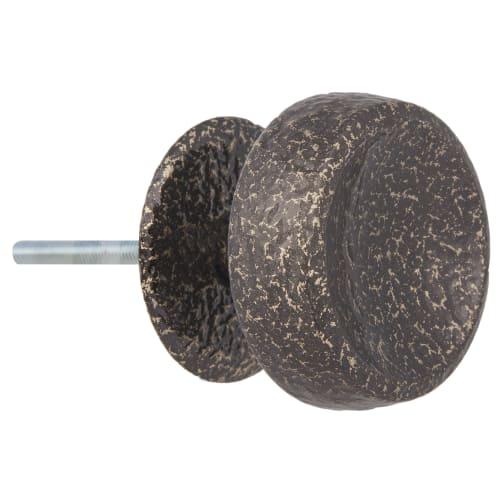 Ручка-кнопка без механизма РК-1, алюминий, цвет античная бронза