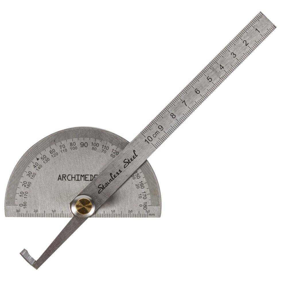 Транспортир с линейкой Archimedes 150 мм