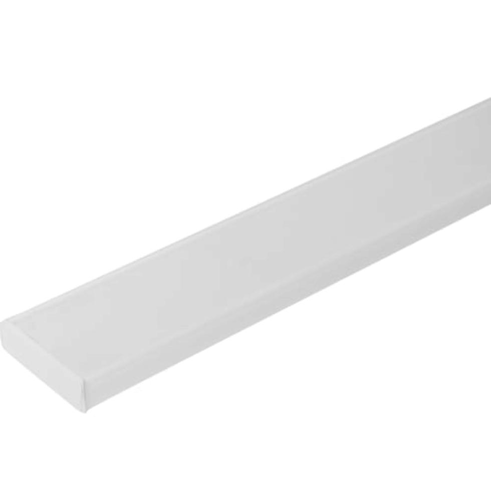 Карниз шинный двухрядный «Эконом» в наборе 300 см пластик цвет белый