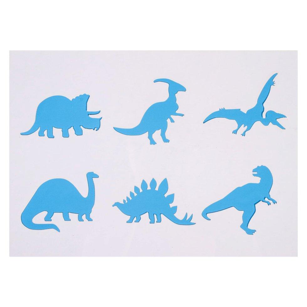 Трафарет самоклеящийся «Динозавры» 25х35 см