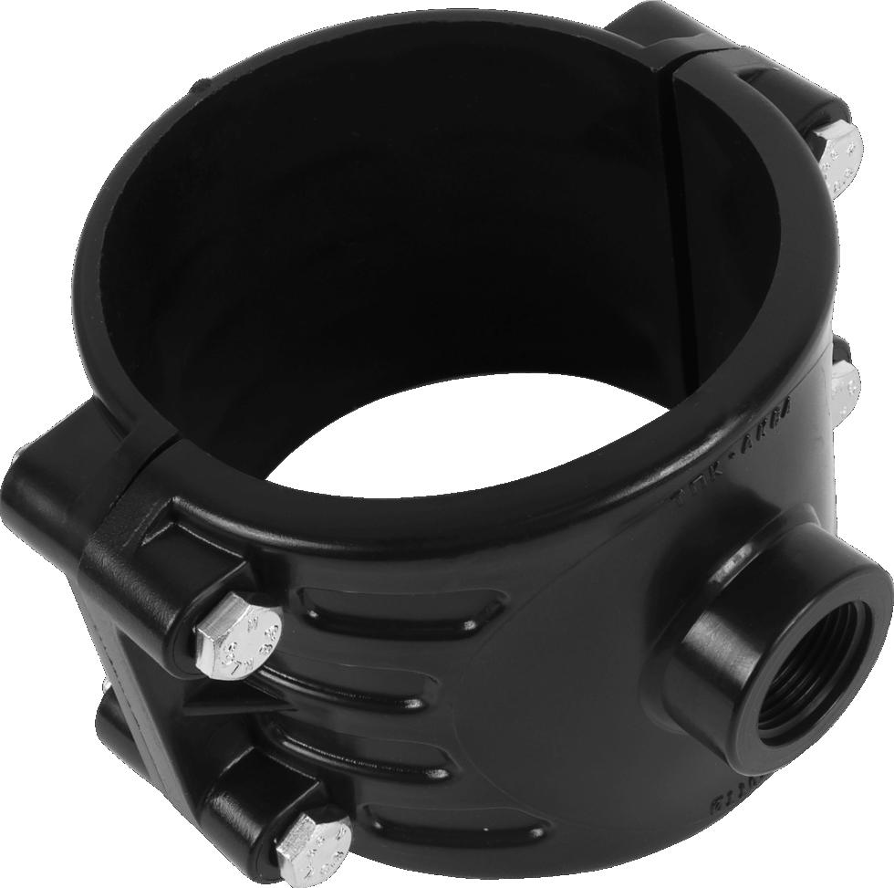 Седёлка для полиэтиленовых труб, 110х3/4 мм
