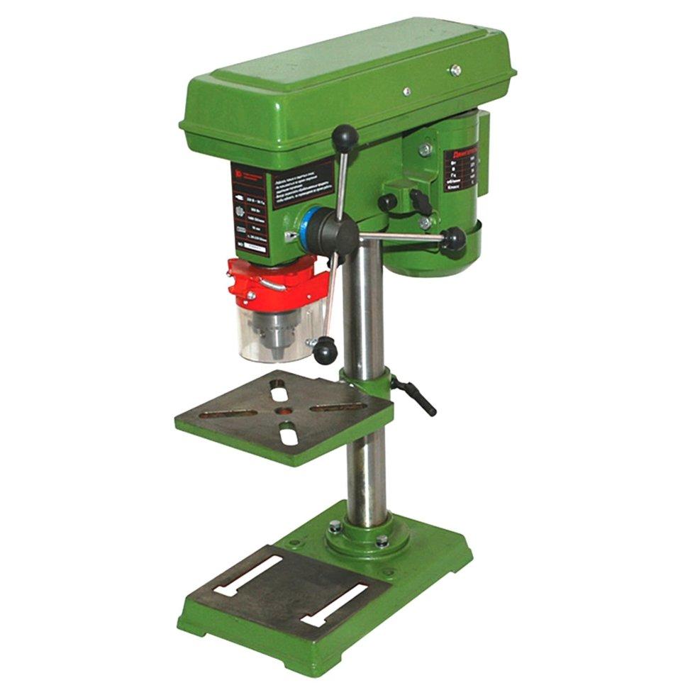 Сверлильный станок Калибр, с тисками, 550 Вт, 16 мм, 9 скоростей