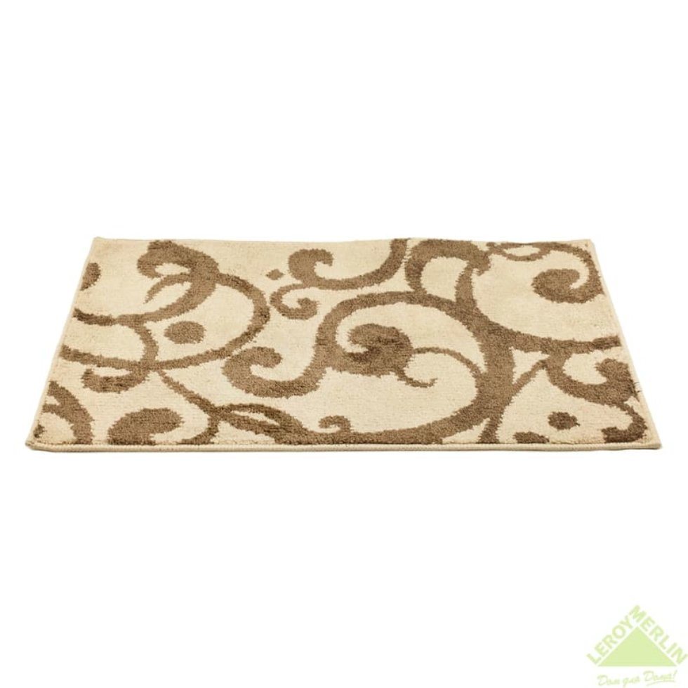 Коврик для ванной комнаты «Узоры» 50х80 см цвет коричневый