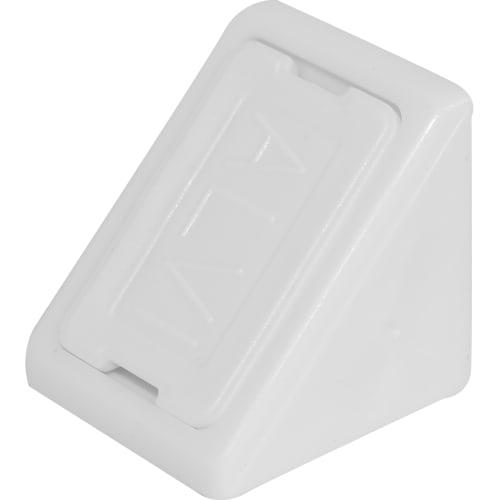 Комплект уголков мебельных с шурупами цвет белый, 6 шт.
