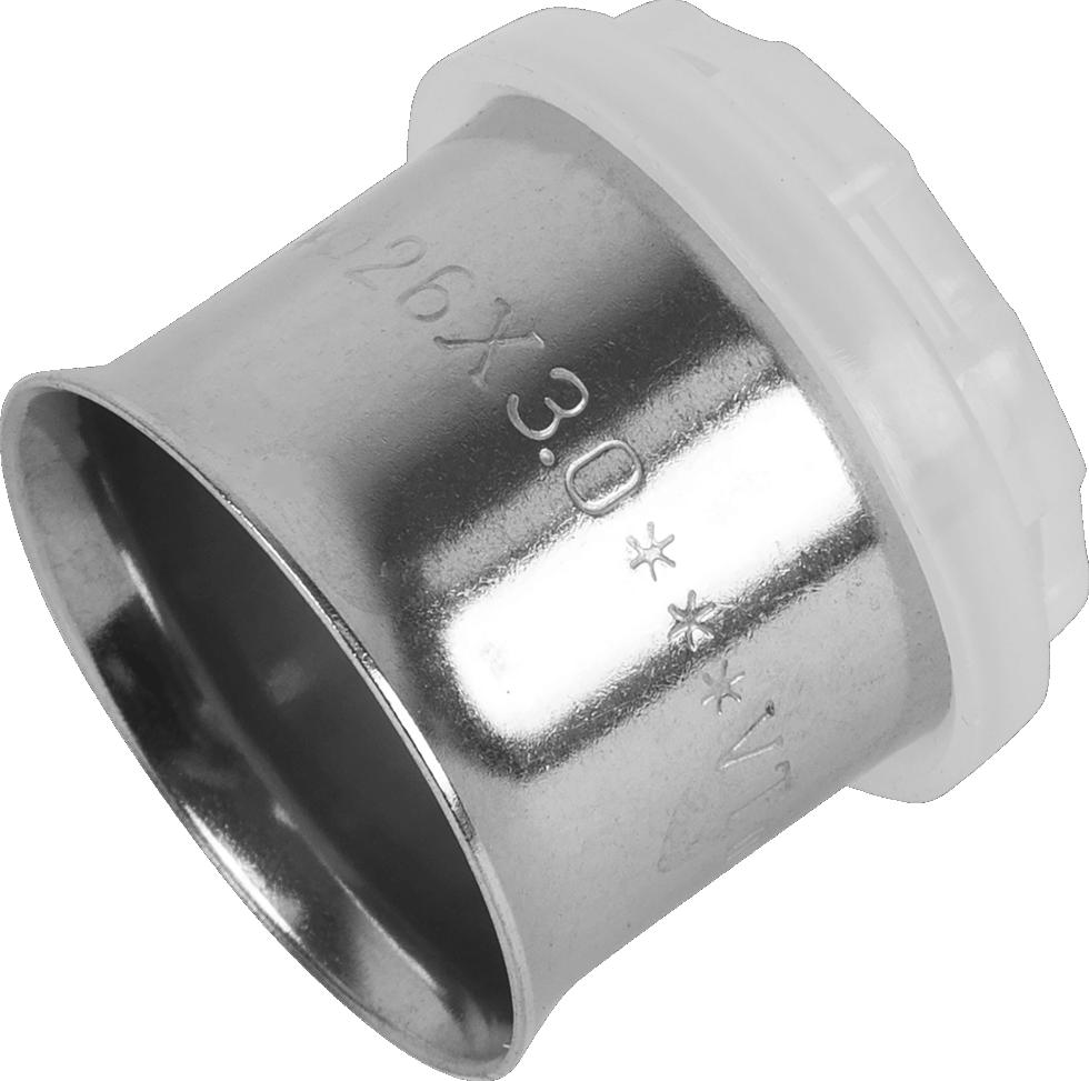 Пресс-гильза, 26 мм, никелированная латунь