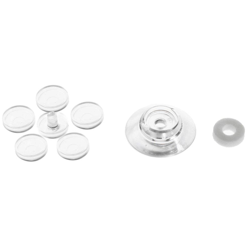 Термошайба для поликарбоната 30 мм, пластик, цвет прозрачный, 25 шт.
