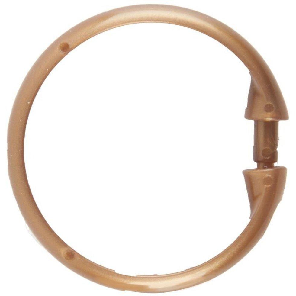 Кольца для шторок круглые Vidage, цвет бронза, 12 шт