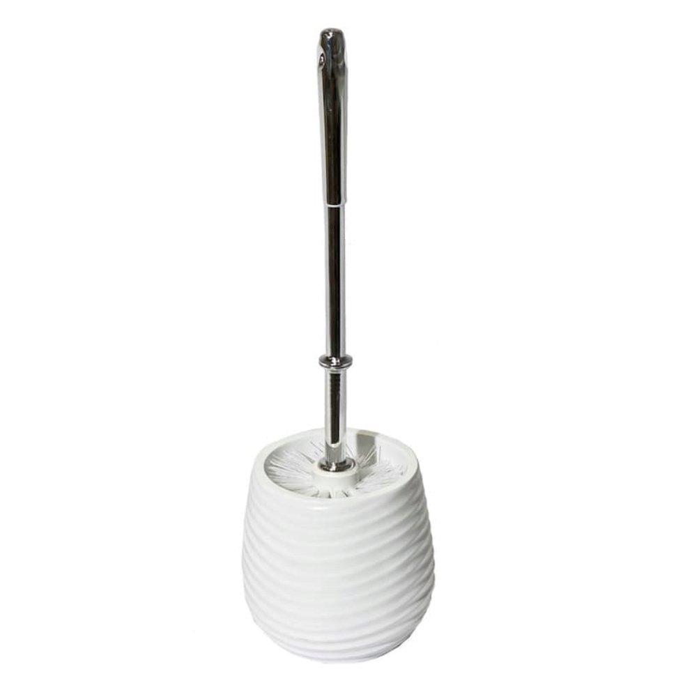 Ёршик для унитаза напольный Brissen «Bosco», полирезина, цвет белый