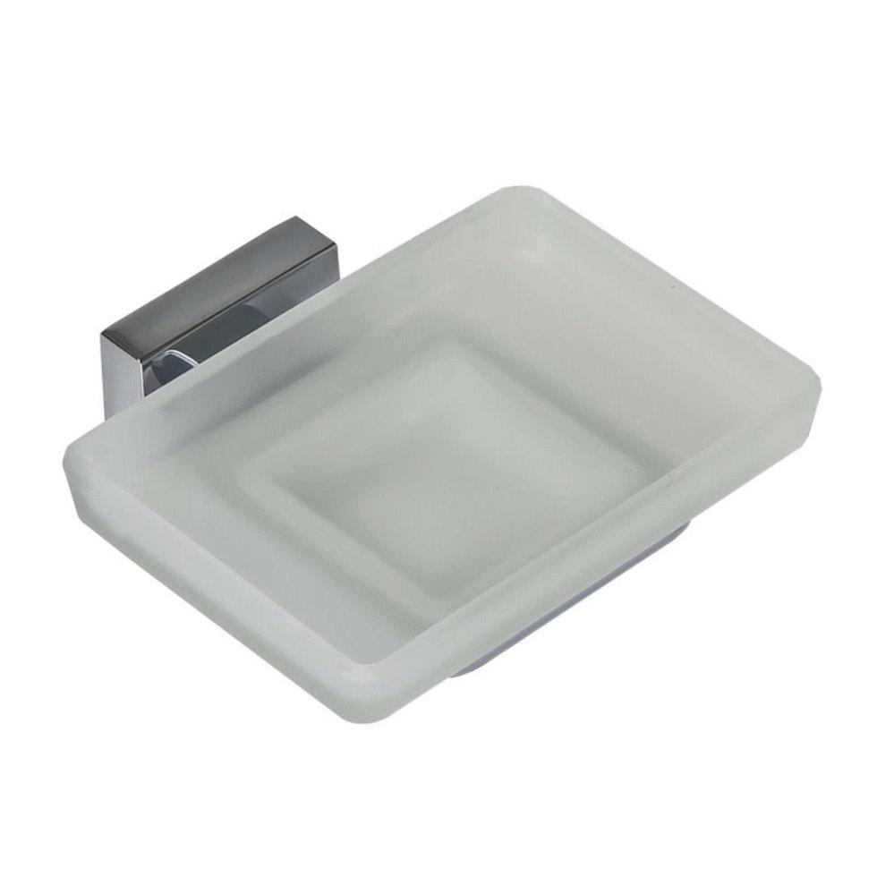 Мыльница подвесная Bath Plus «Bruklin», стекло, цвет хром