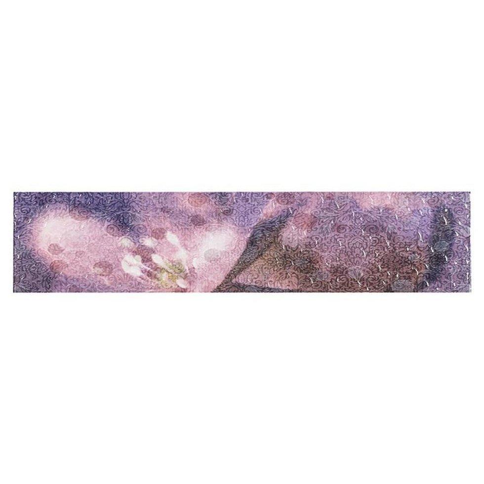 Бордюр «Лила БД45ЛЛ303» 36.4х8 см цвет фиолетовый