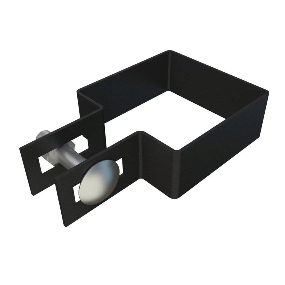Крепёжный хомут боковой, 60х60 мм, цинк