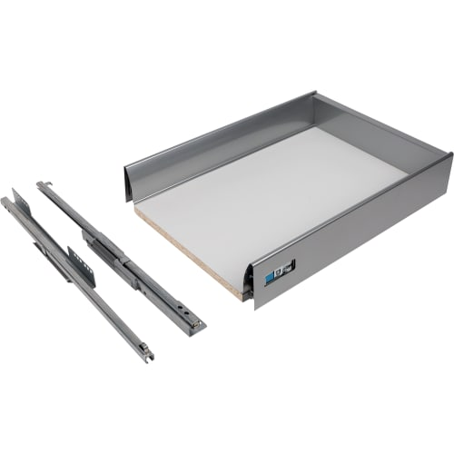 Ящик Delinia низкий с доводчиком 29.2х8.5х40 см, металл, цвет белый