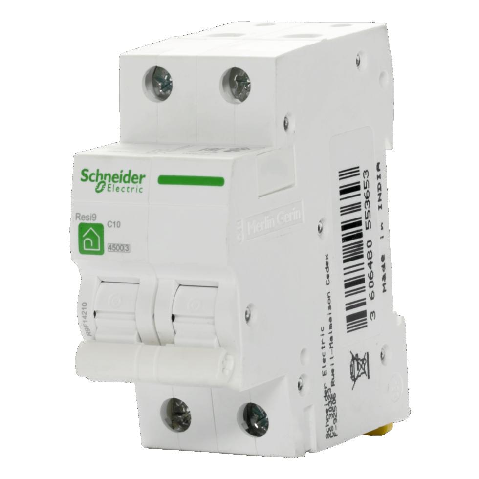 Выключатель автоматический Schneider Electric Resi9 2 полюса 10 A