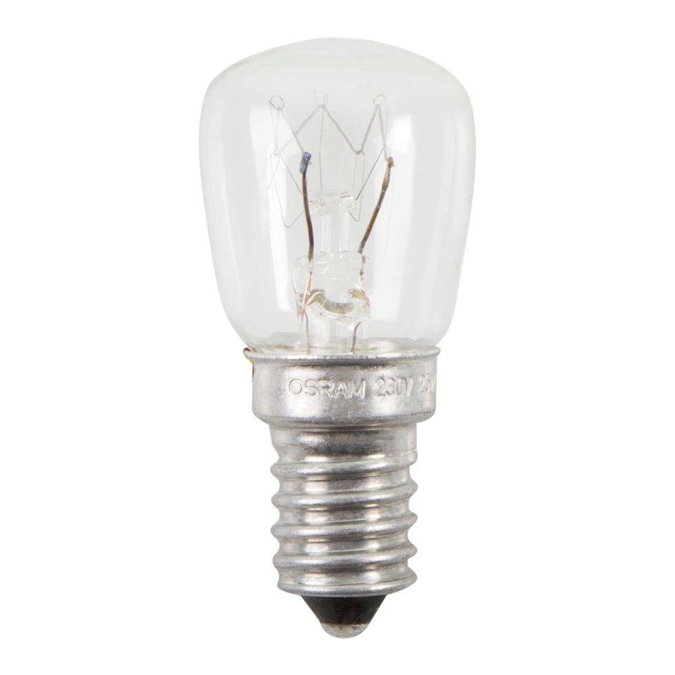 Лампа накаливания для холодильника Osram трубчатая T26/57 E14 25 Вт свет тёплый белый