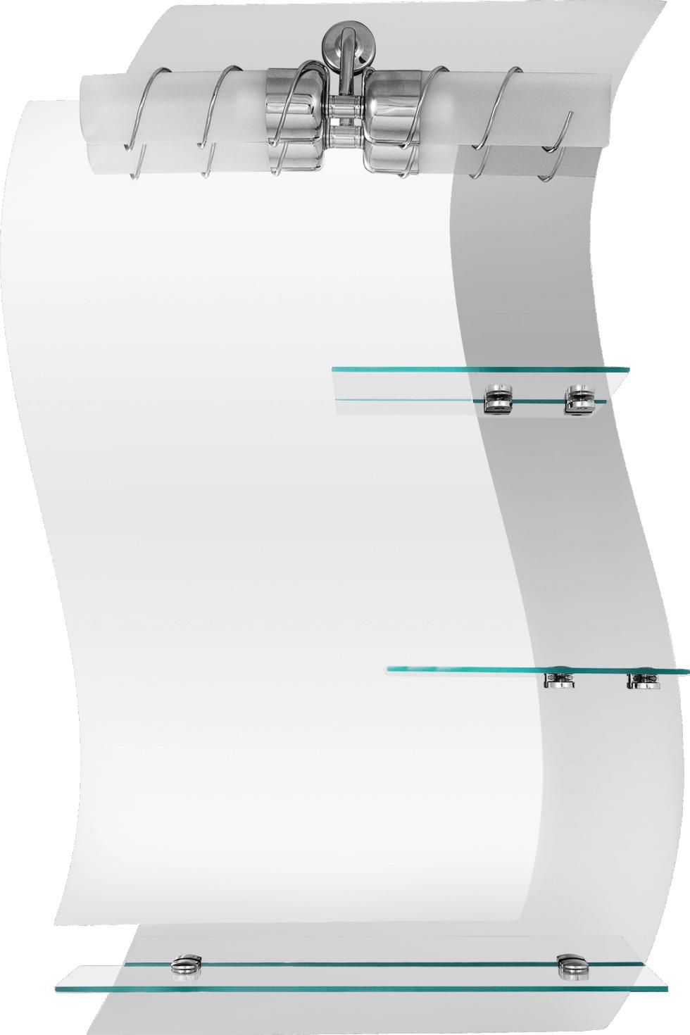Зеркало «Кензо» с полкой 58 см