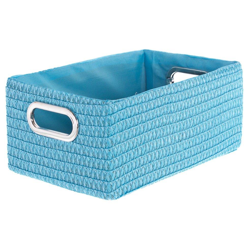 Короб без крышки L 34х16x22 см, плетенье цвет голубой