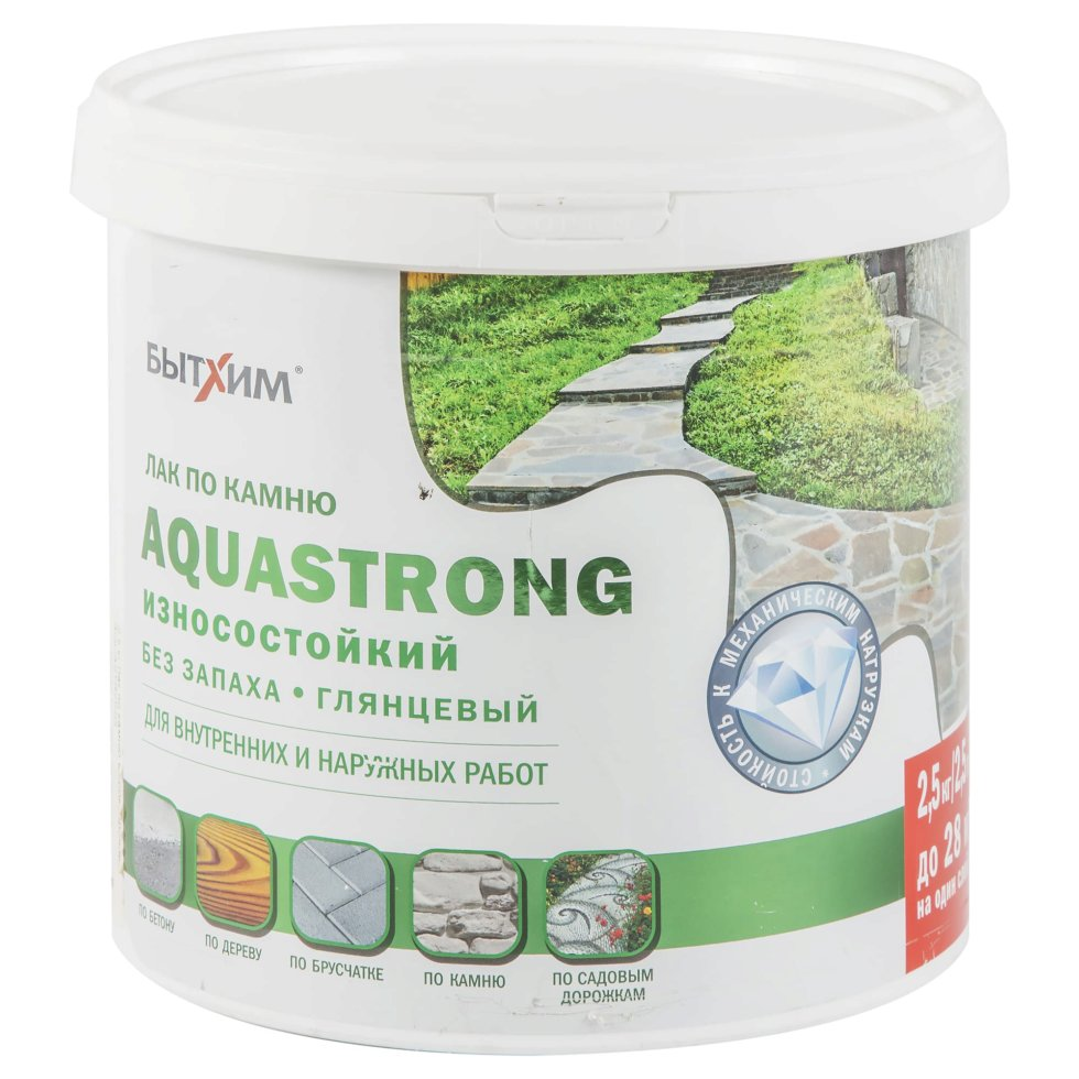 Лак по камню Aquastrong, высокопрочный, 2.5 кг