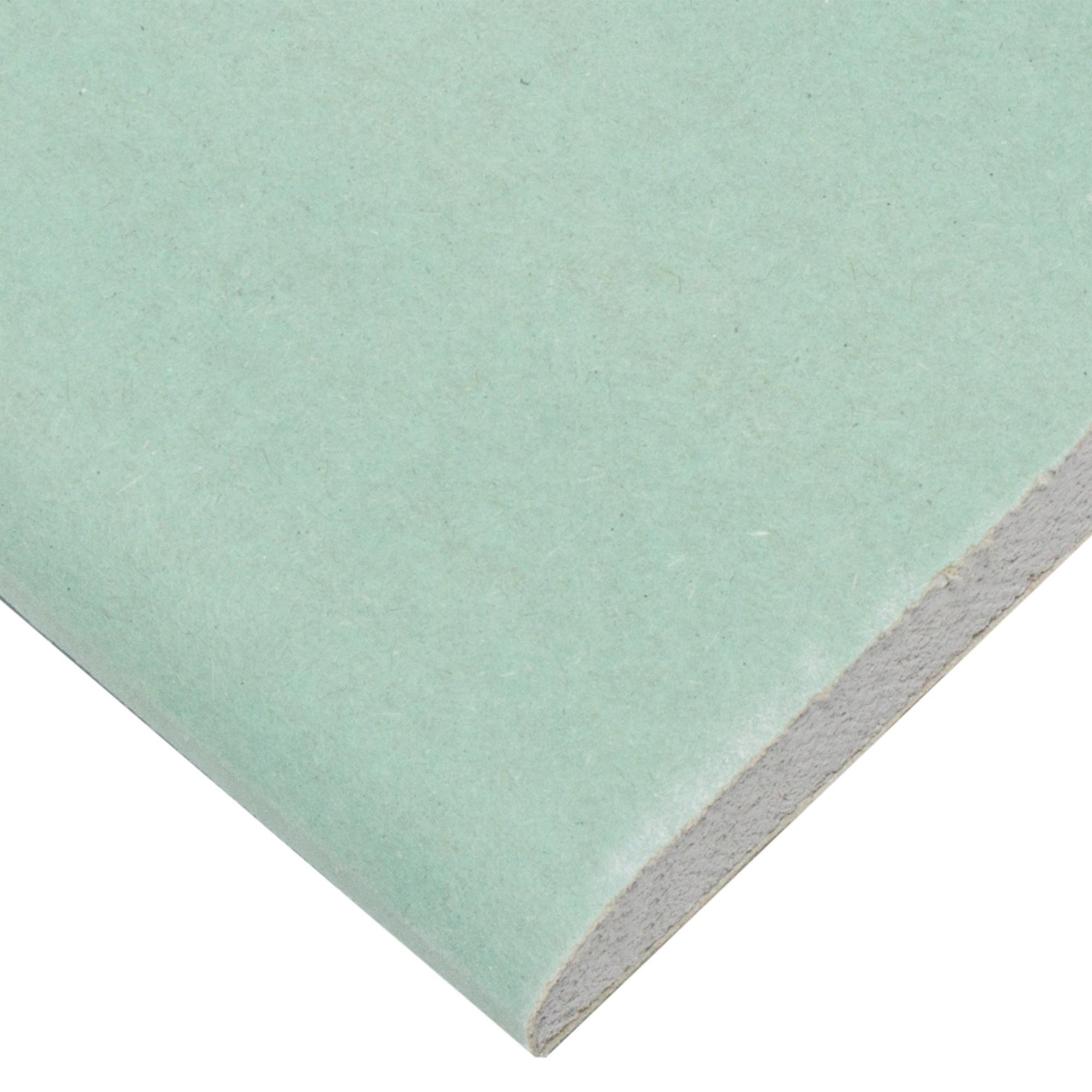 Гипсокартон влагостойкий 12.5 мм Knauf 1500х600 0.9 м²