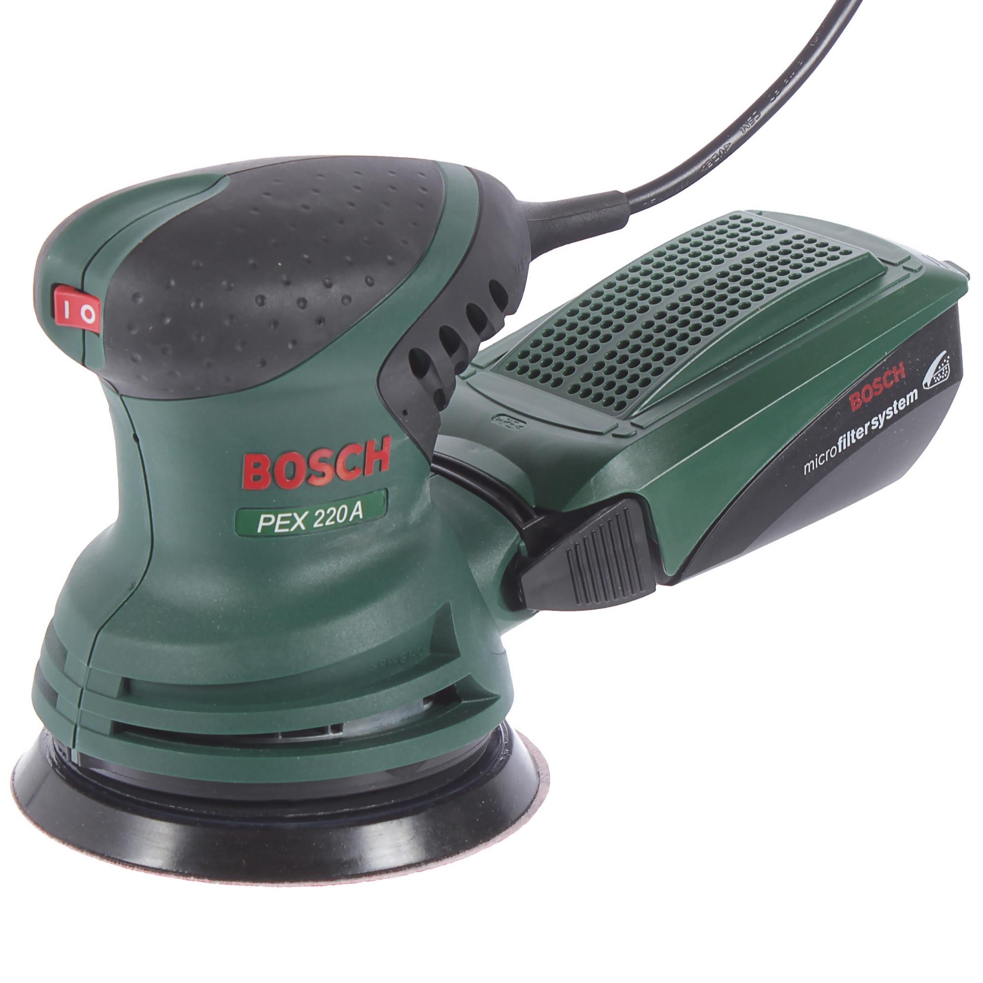 Эксцентриковая шлифовальная машина Bosch PEX 220, 220 Вт, 125 мм
