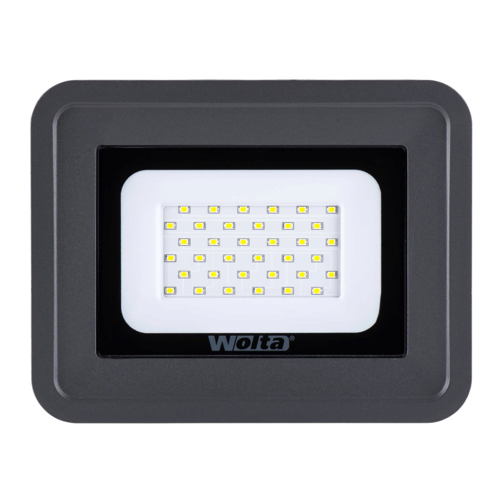 Прожектор Wolta 30 Вт, 2550 Лм, 5500 K, IP65