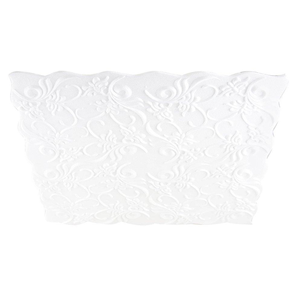 Плита потолочная инжекционная «Нарцисс», бесшовная, 2 м2, 50х50 см, пенополистирол, цвет белый