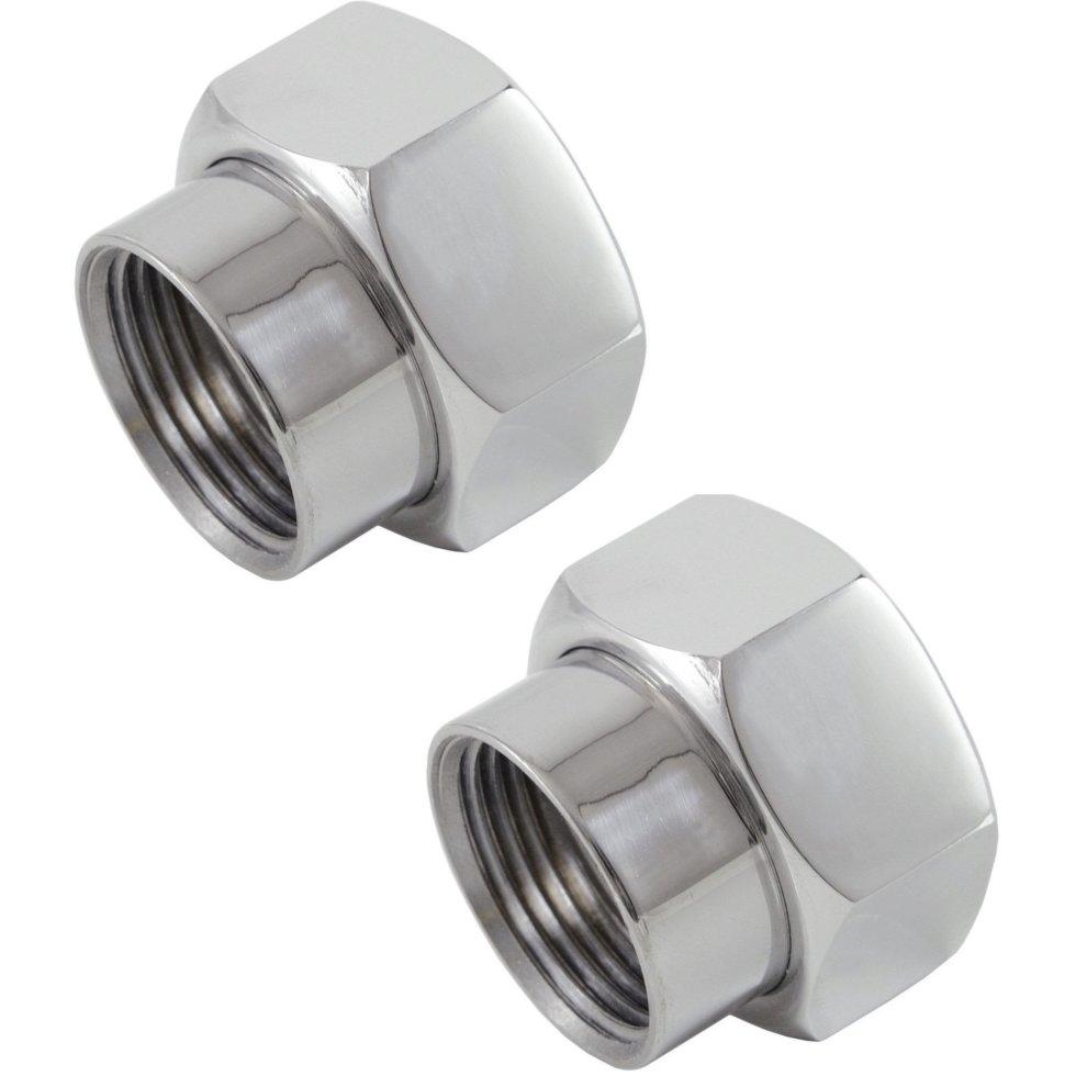 Соединители для полотенцесушителя, прямые, 1х3/4, нержавеющая сталь