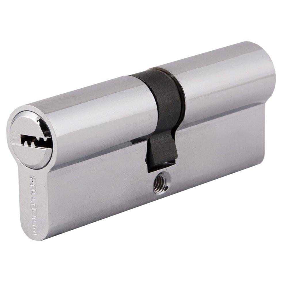 Цилиндр Palladium 2J07 80, 40х40 мм, ключ/ключ, цвет хром