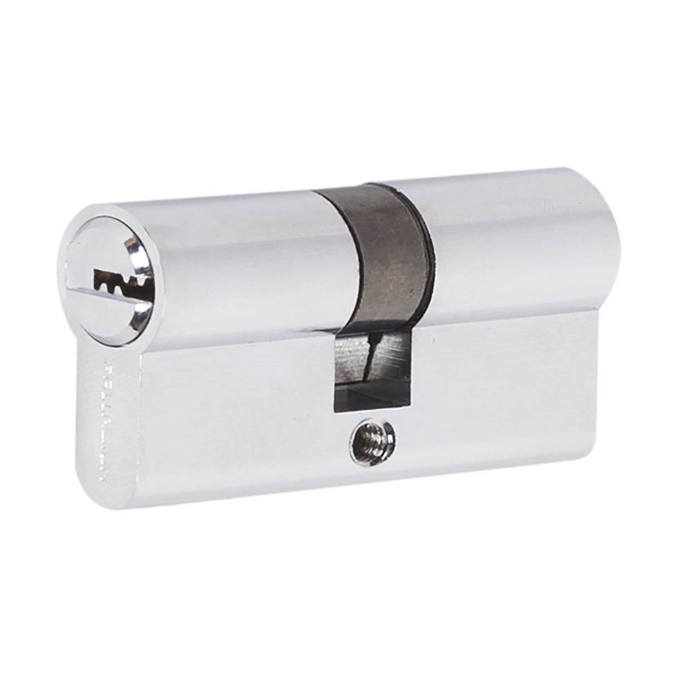Цилиндр ключ/ключ 30х30 хром, 60 C ET CP