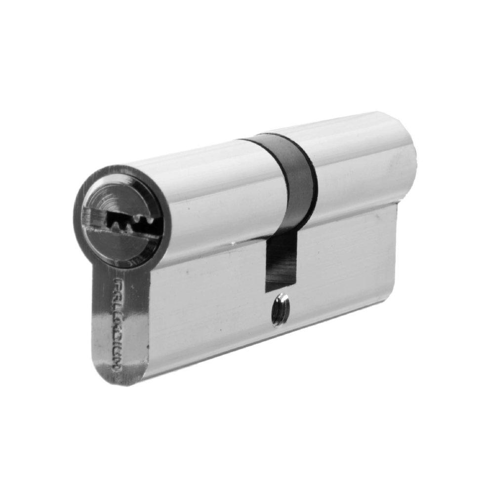 Цилиндр ключ/ключ 40х40 хром, 80 C ET CP