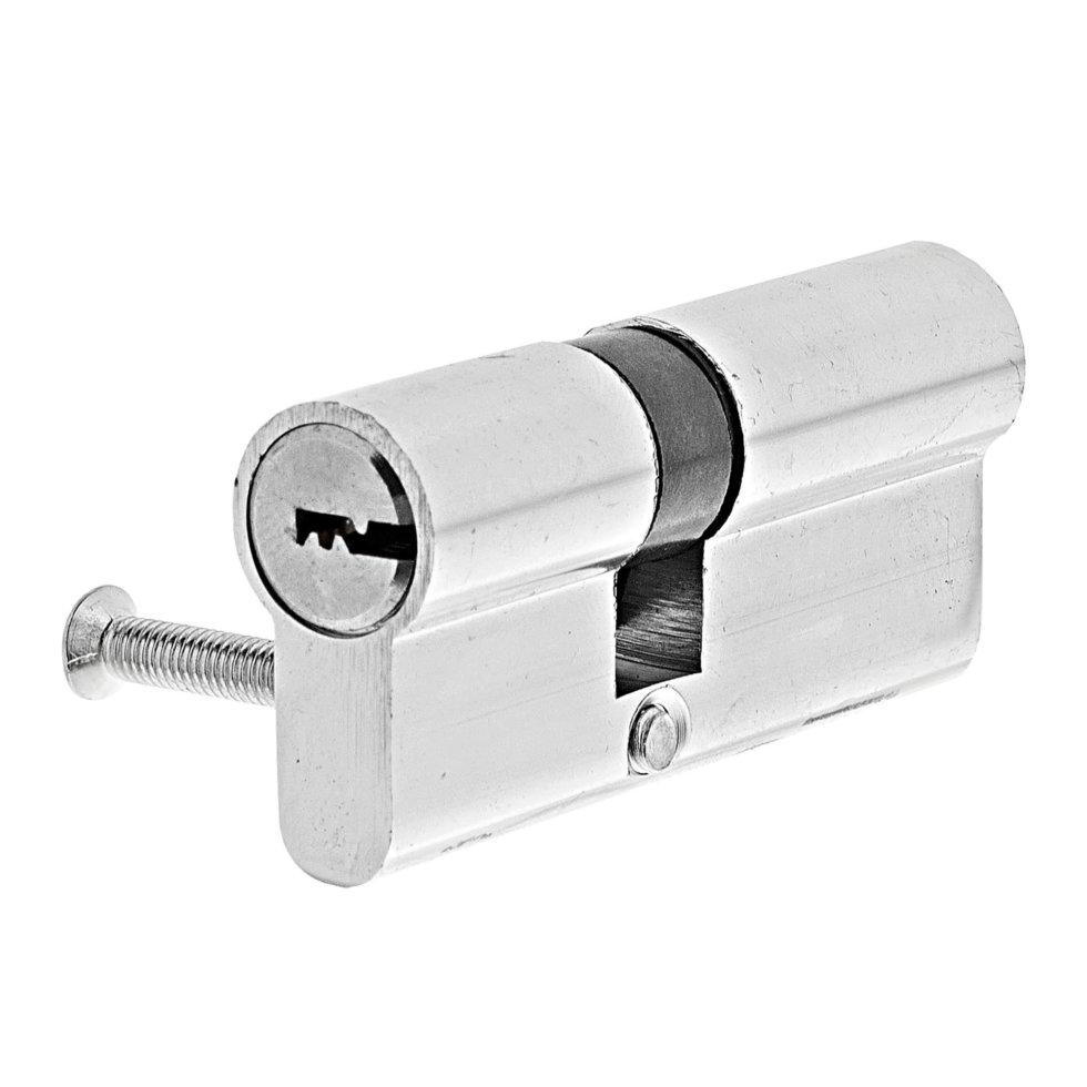 Цилиндр Standers 70, 30x40 мм, ключ-ключ, цвет хром