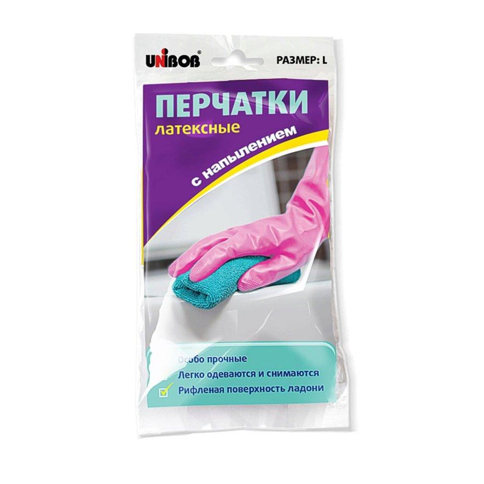 Перчатки Unibob размера L с напылением латекс