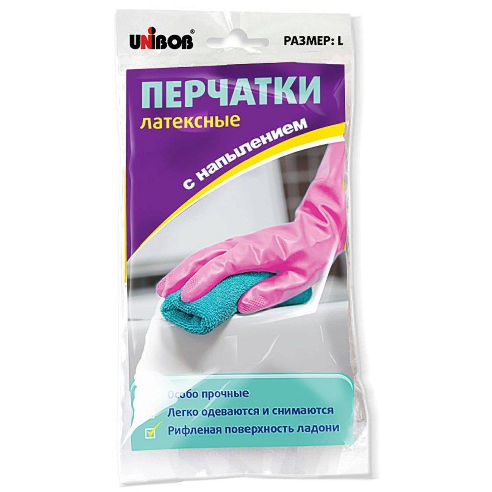 Перчатки Unibob размера S с напылением латекс