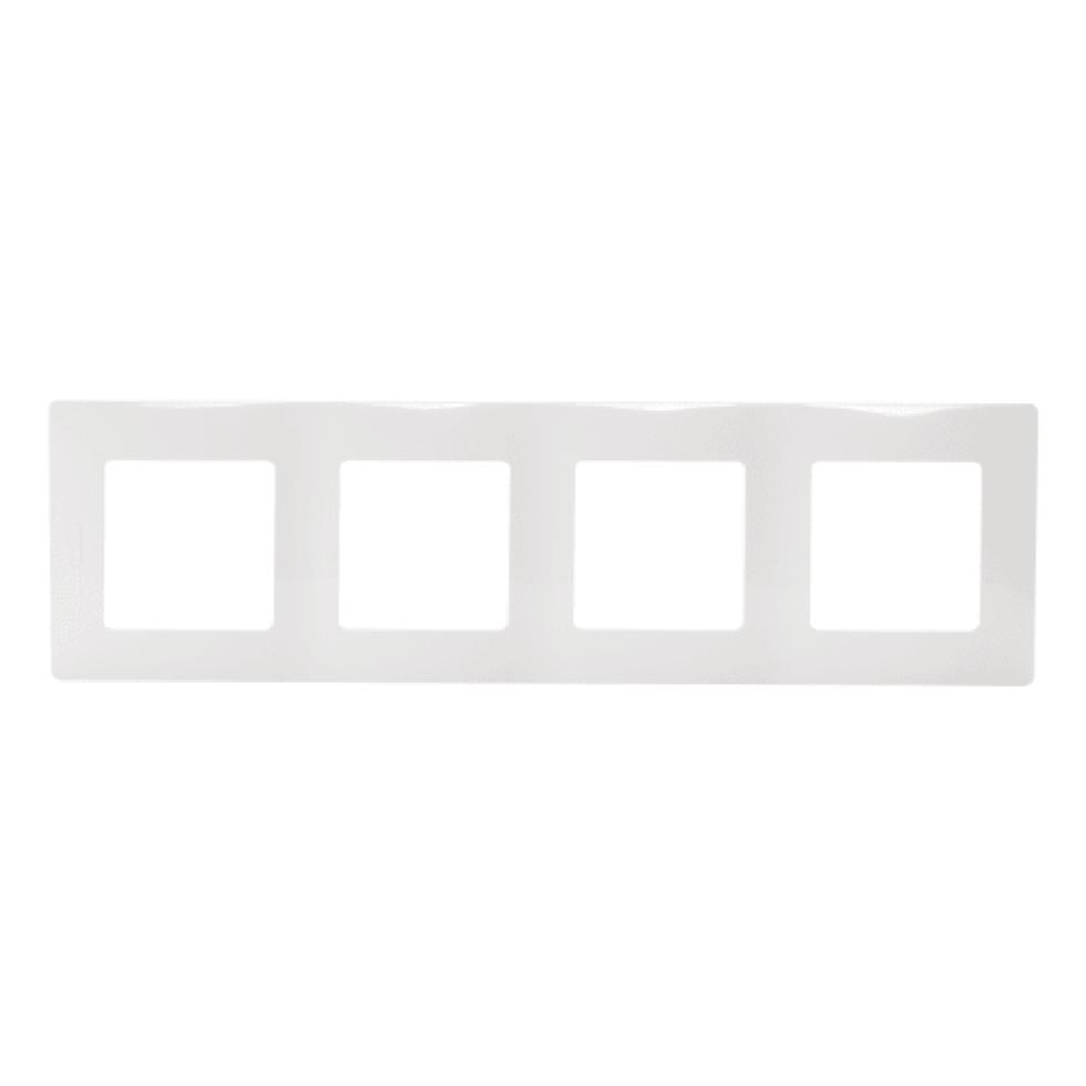 Рамка Legrand Etika, 4 поста, цвет белый
