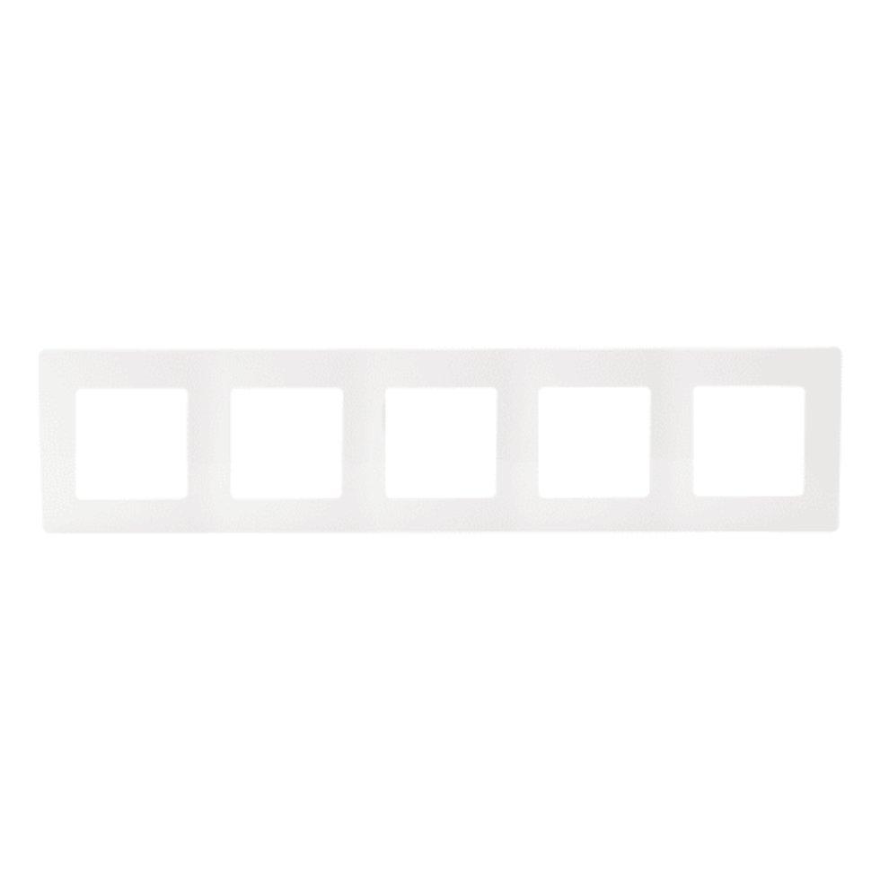 Рамка Legrand Etika, 5 постов, цвет белый