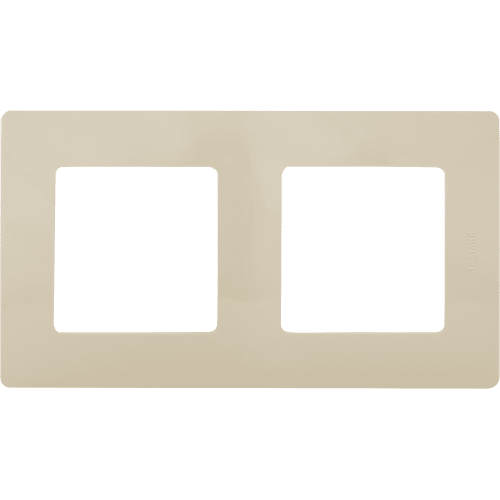 Рамка для розеток и выключателей Legrand Etika 2 поста, цвет слоновая кость